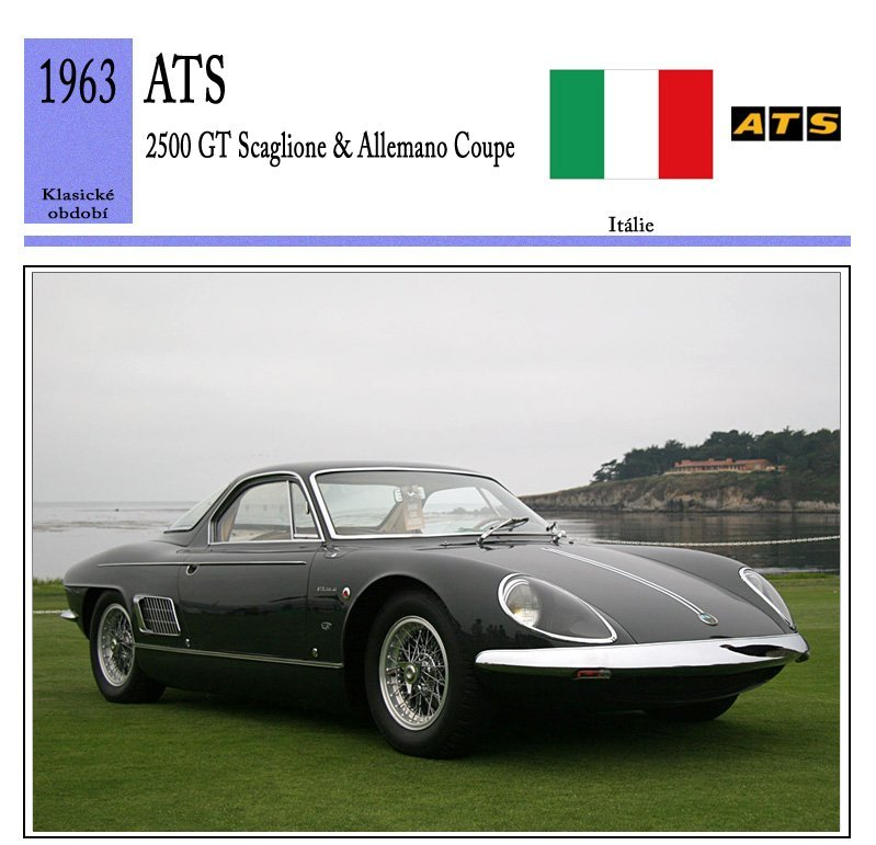 ATS 2500 GT Scaglione & Allemano Coupe