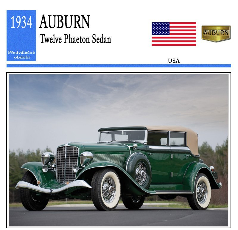 Auburn Twelve Phaeton Sedan